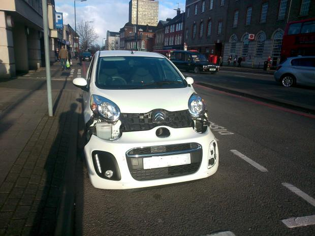 This Is Local London: The car was left badly damaged