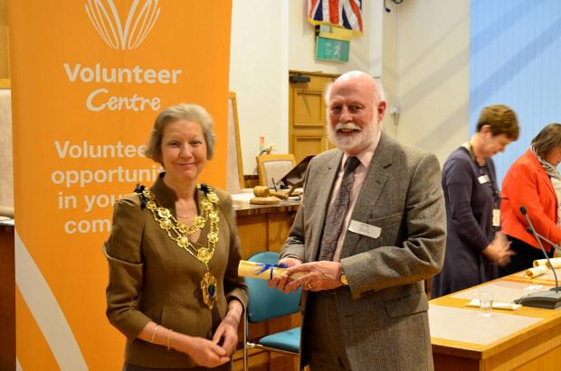 The presentation of last year's Epsom and Ewell volunteer awards
