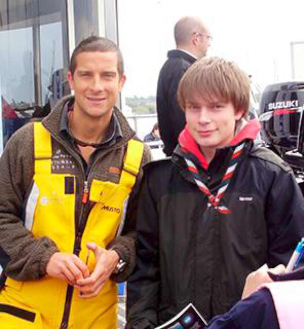 Trip of a lifetime: Max Harvey with Bear Grylls