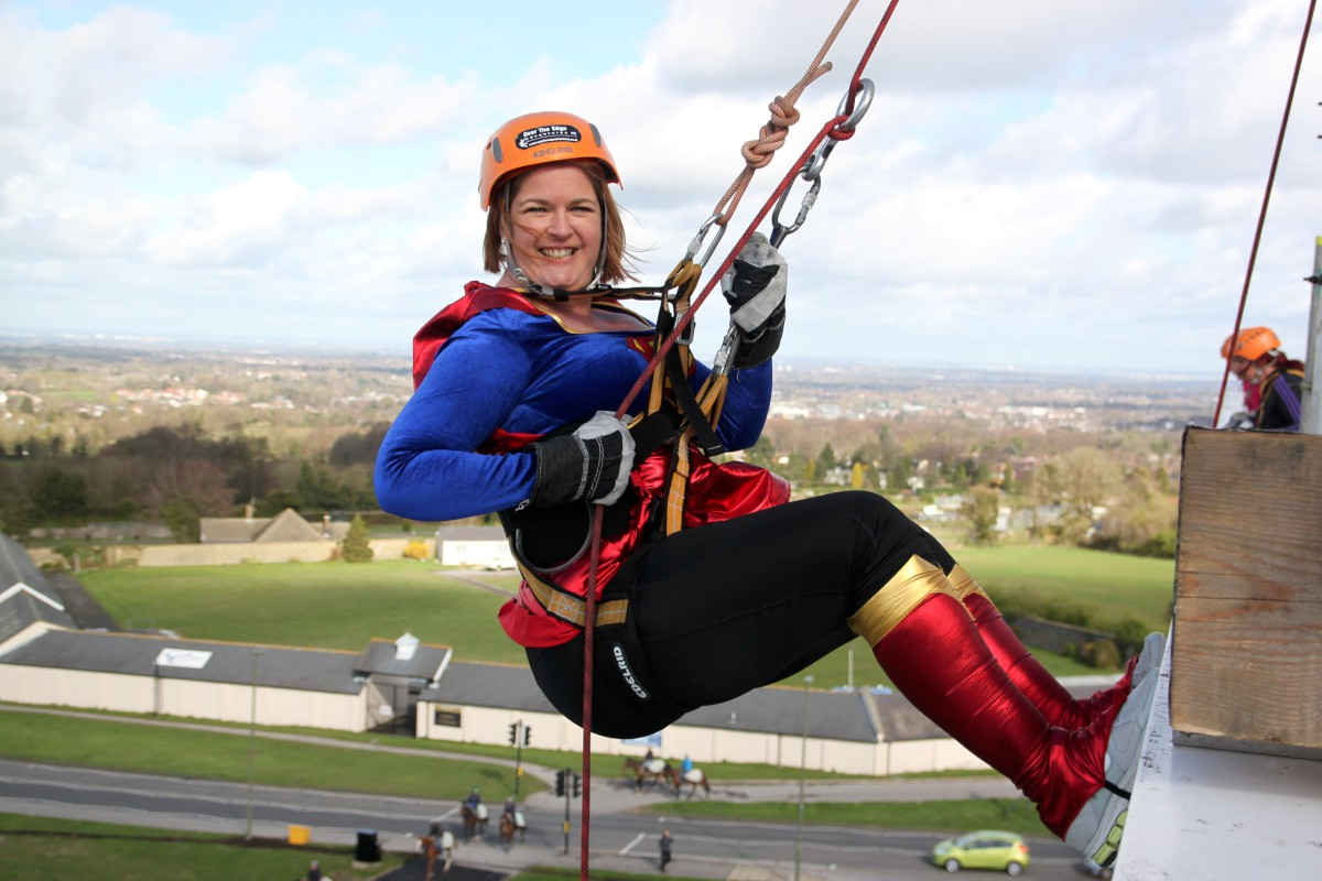 Thousands raised in Epsom racecourse abseil
