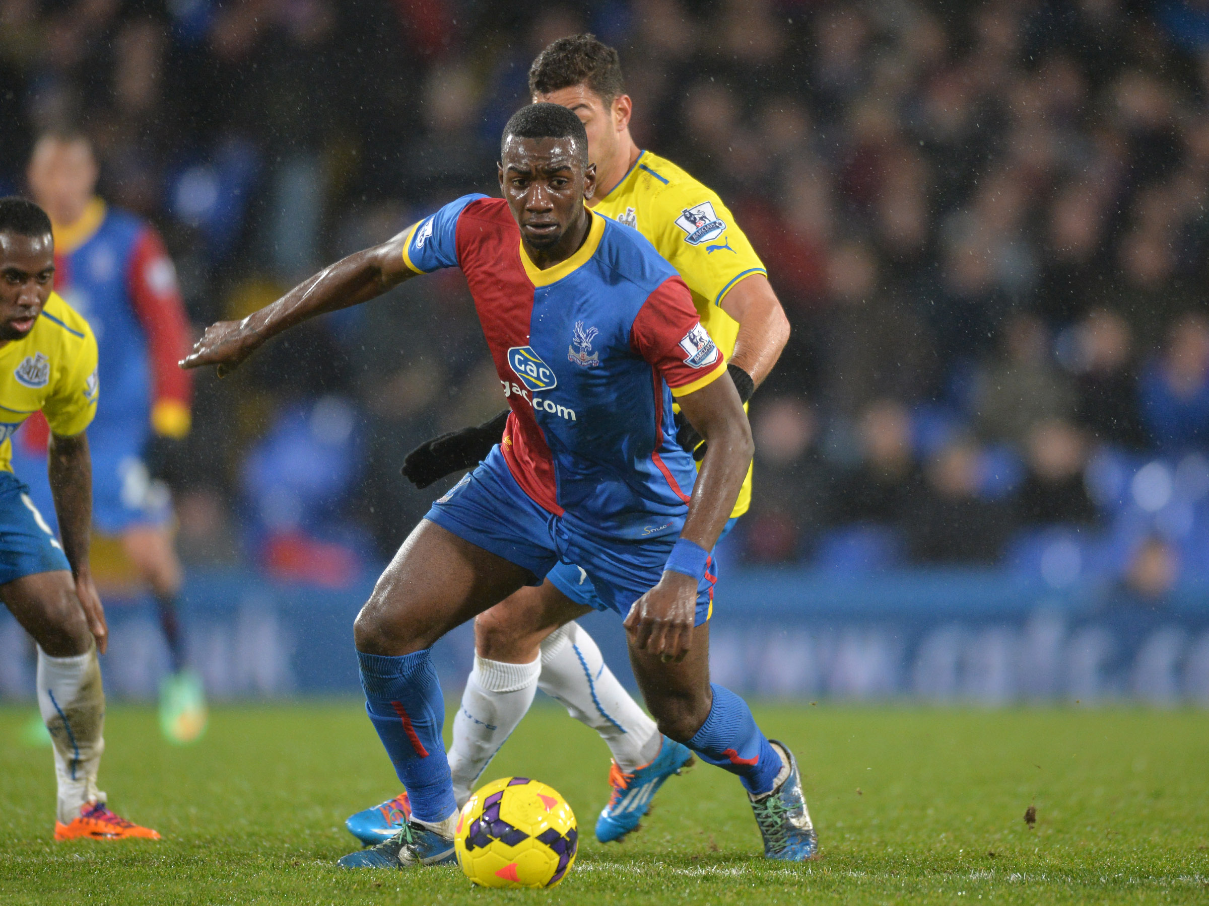 Yannick Bolasie hit the bar for the Eagles. Picture by Keith Gillard.