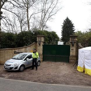 This Is Local London: Police outside the home of Boris Berezovsky after his death.