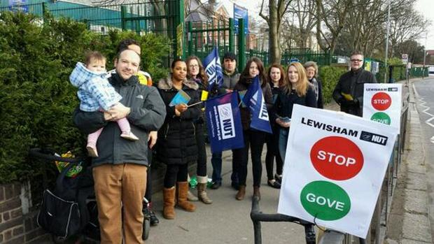 This Is Local London: Teachers picket in Sydenham (pic by Lewisham NUT)