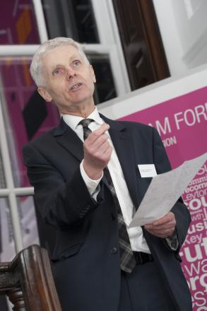 Professor Tony Travers from the London School of Economics speaking at the report's launch.