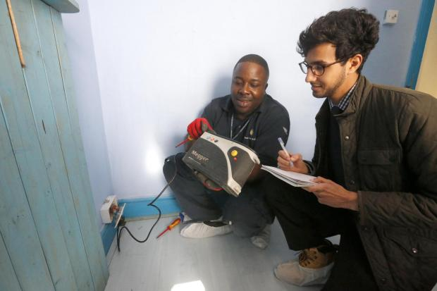 The Hairngey Independent's Jaber Mohamed talks to electrician Dave Gentles about repairs to homes in Noel Park
