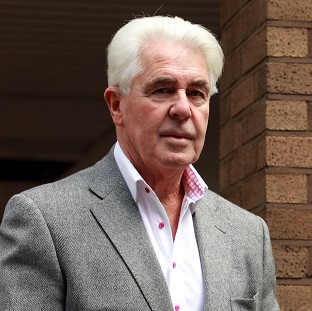 Publicist Max Clifford arrives at Southwark Crown Court where he is accused of a total of 11 counts of indecent assault against seven women and girls