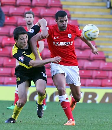 O'Nien made his debut his Watford against Barnsley. Picture: Dave Peters