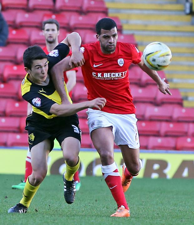 This Is Local London: O'Nien made his debut his Watford against Barnsley. Picture: Dave Peters