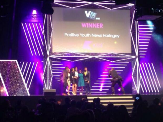 Positive Youth News Haringey won the Team Activity category of the vInspired Awards last night. Photo taken from the vInspired Twitter account