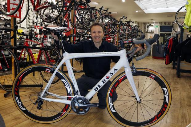 Guy Rowland, owner of Corridori Cycle Sport, came to Steve Houghton's rescue