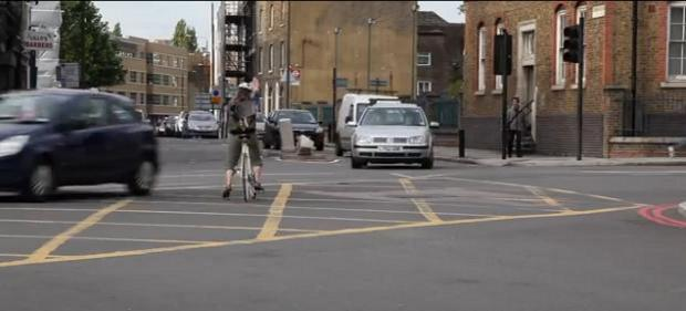 This Is Local London: Near miss - a still from the Lewisham Cyclists Deals Gateway video