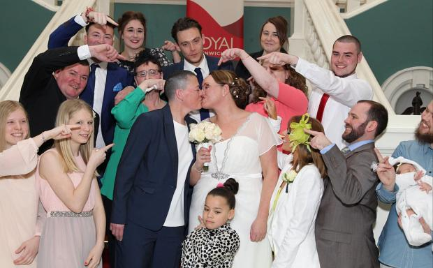 This Is Local London: Woolwich's first gay marriage as Mottingham brides tie the knot