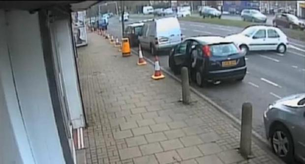 A still from CCTV footage of the crash on Thursday, March 27
