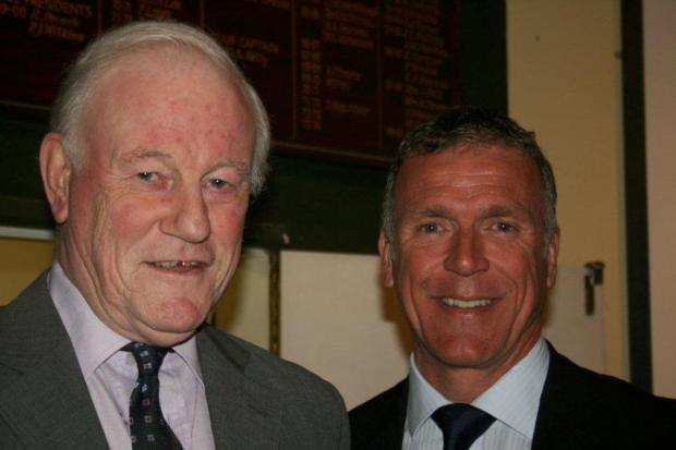 Peter Curtis with Alec Stewart
