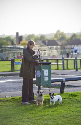 Dog owners have been urged to use new bins in Hertsmere parks