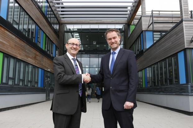 Steve Oxlade, left, executive principal of Reigate and Coulsdon Colleges and Brett Freeman, principal of Coulsdon College