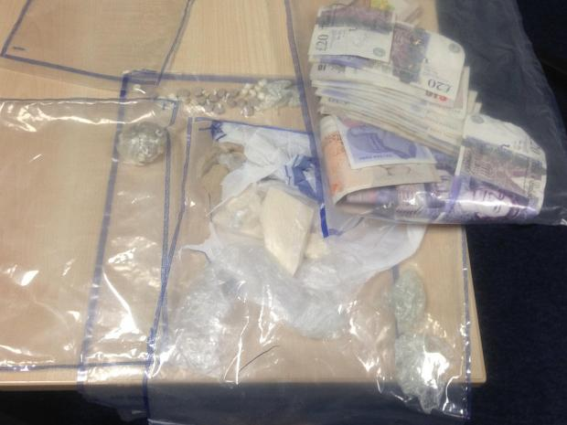 This Is Local London: The heroin, crack cocaine and cash found on a man during a Lewisham police street stop