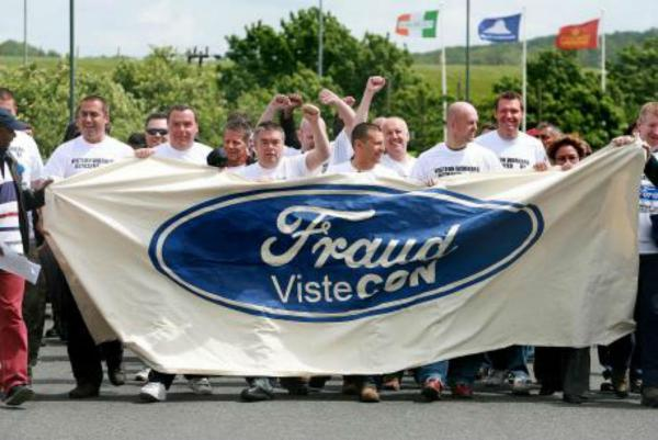 This Is Local London: Protest in 2009 outside the former Visteon plant