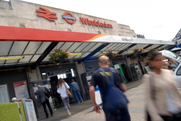 Police shut down Wimbledon Station while they arrested two teenagers on Sunday