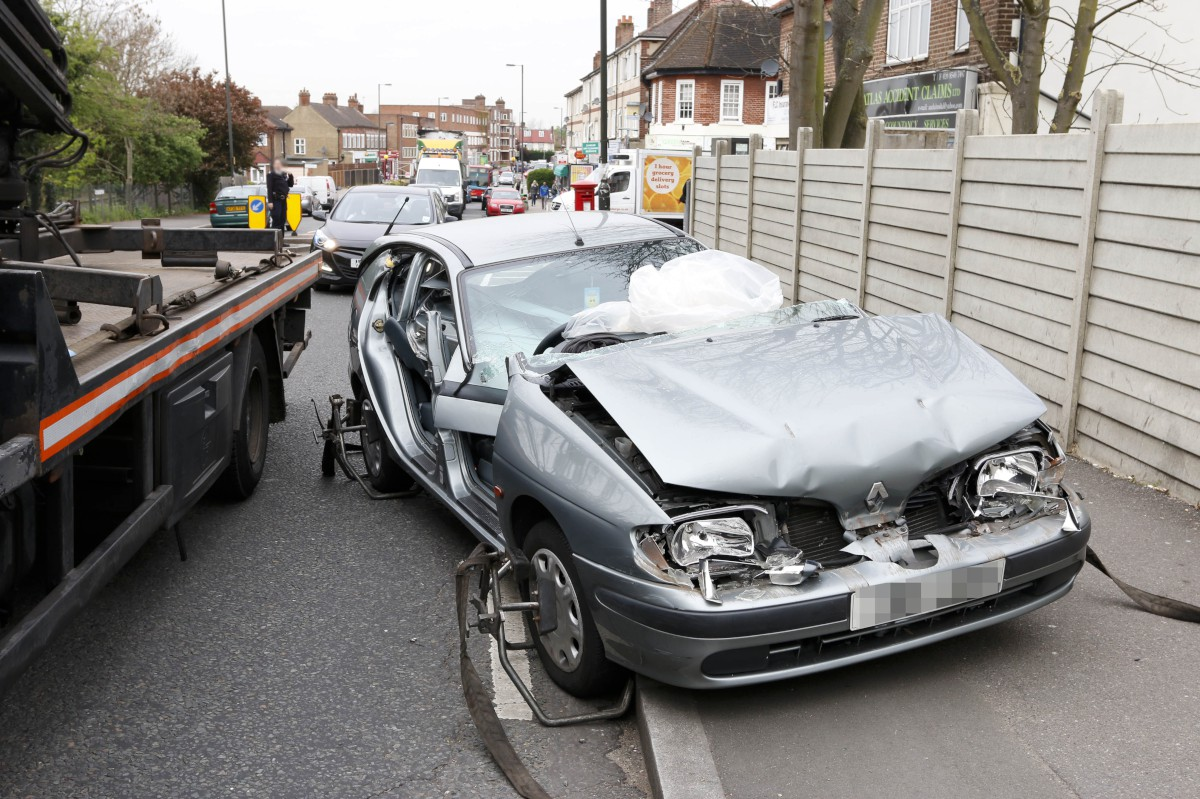 Road blocked after Morden collision