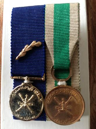 Stolen medals which were presented to the victim's mother for nursing services during the Dhofar war