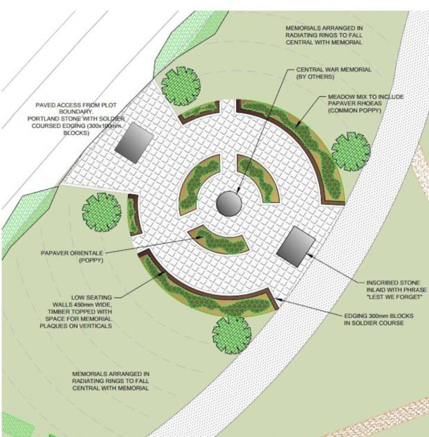 This Is Local London: The design for a war memorial as part of cemetery plans