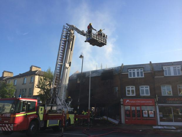 This Is Local London: An aerial unit was used to help tackle the blaze