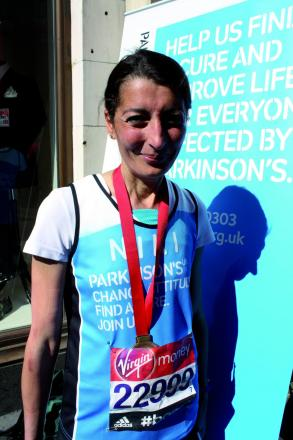 Niki Taylor, 48, from Epsom, ran in aid of Parkinson's UK.