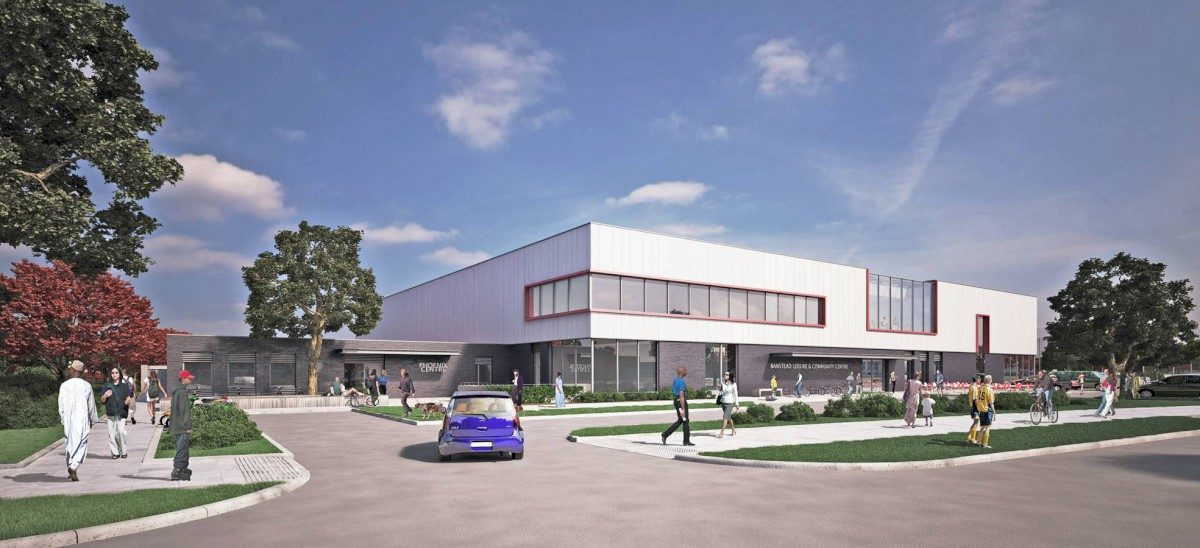 An artist's impression of the planned leisure centre in Tadworth
