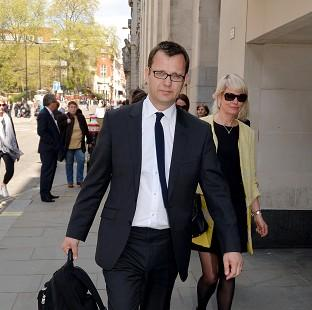 Former News of the World editor Andy Coulson outside the Old Bailey