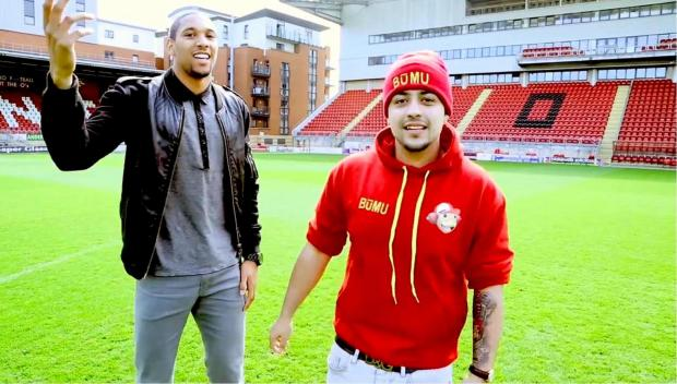 Shaun Batt and Redzz in the music video