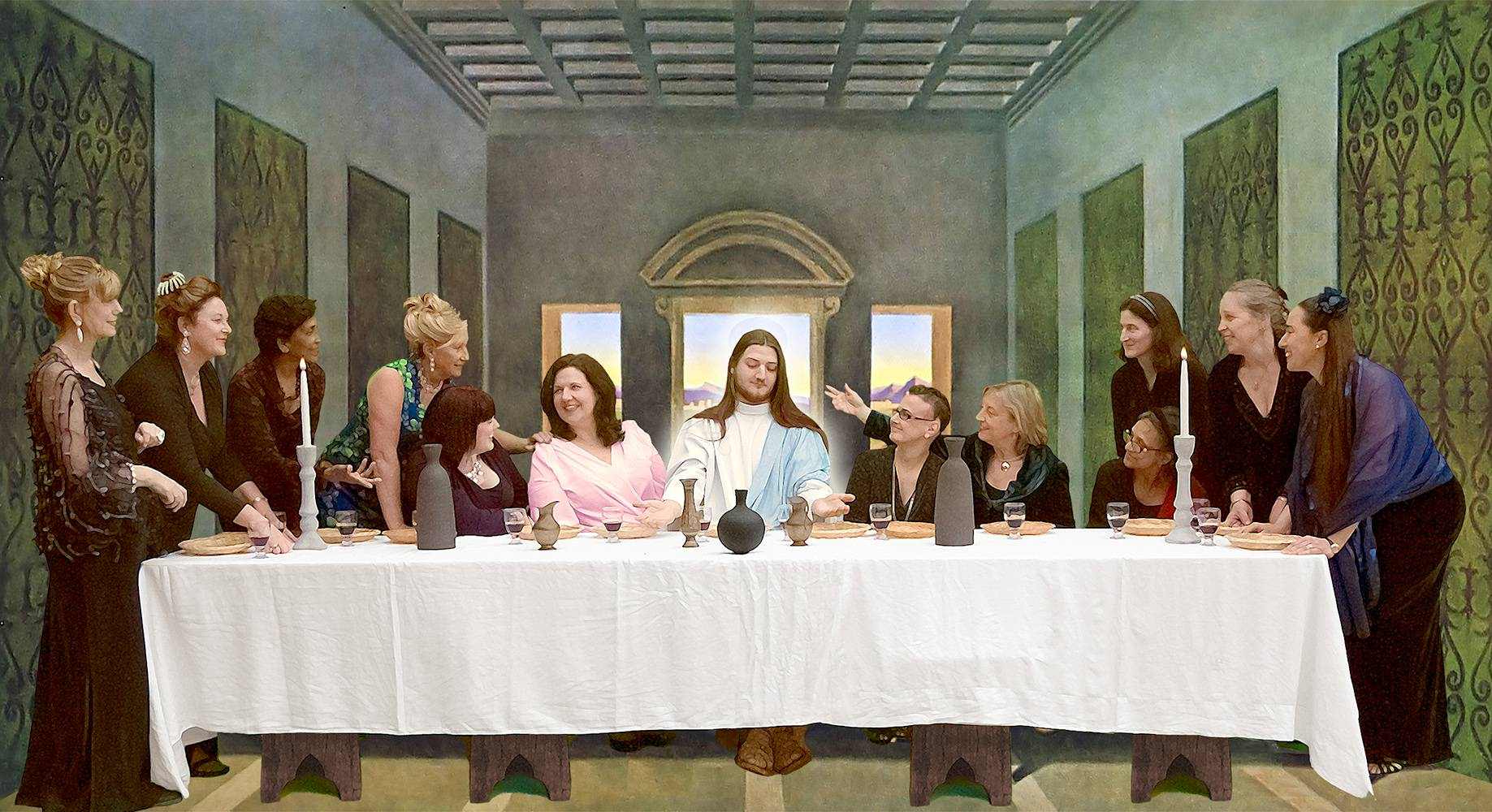 First supper club women recreate Da Vinci's iconic painting in time for Easter