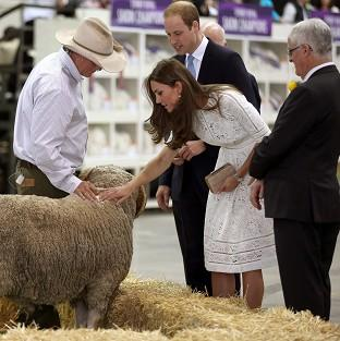 This Is Local London: The Duke and Duchess of Cambridge at the Royal Easter Show at Sydney Olympic Park