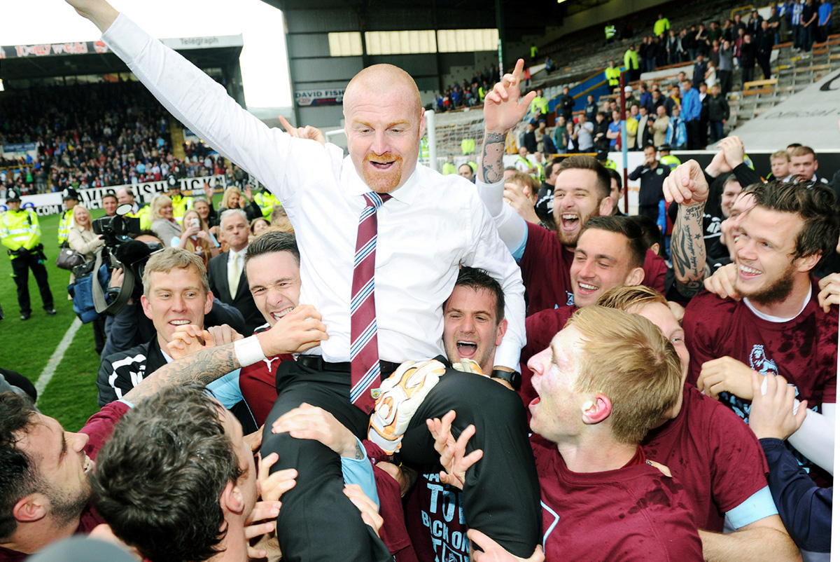 Sean Dyche celebrates promotion