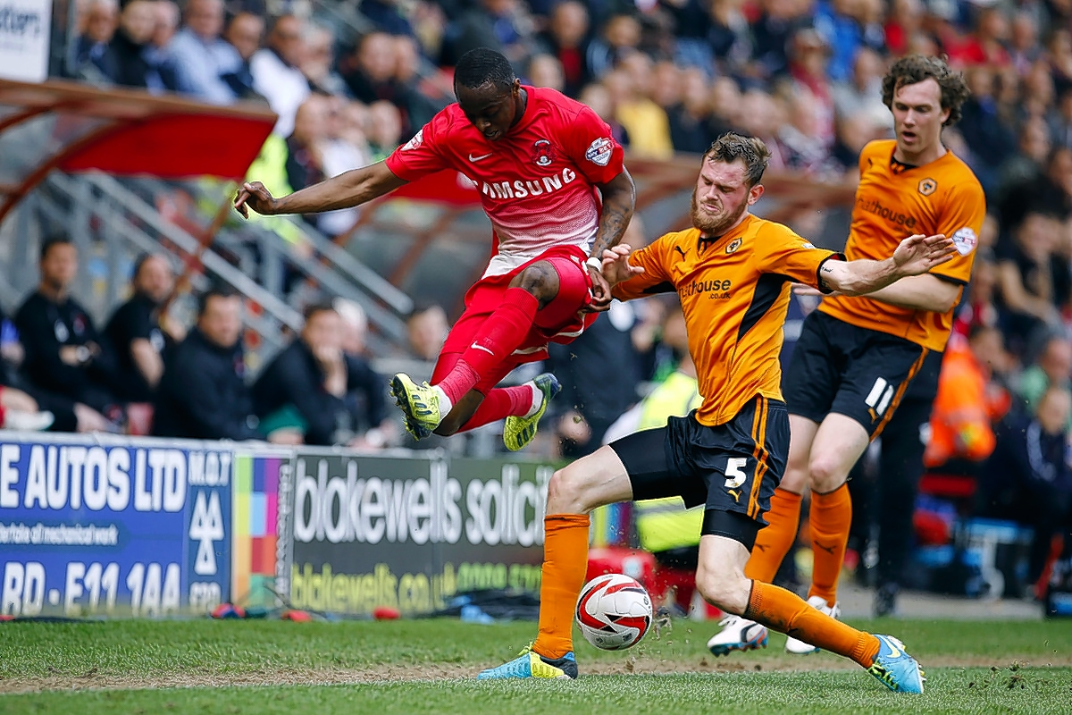 Moses Odubajo attacks during the O's unlucky defeat to Wolves: Simon O'Connor