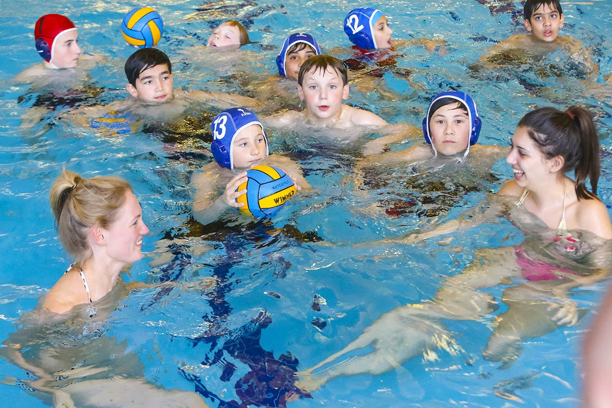 Sink or swim? Reporters play water polo