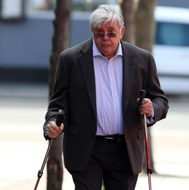 This Is Local London: Former executive chairman of the now-defunct JJB Sports Sir David Jones arriving at Leeds Crown Court