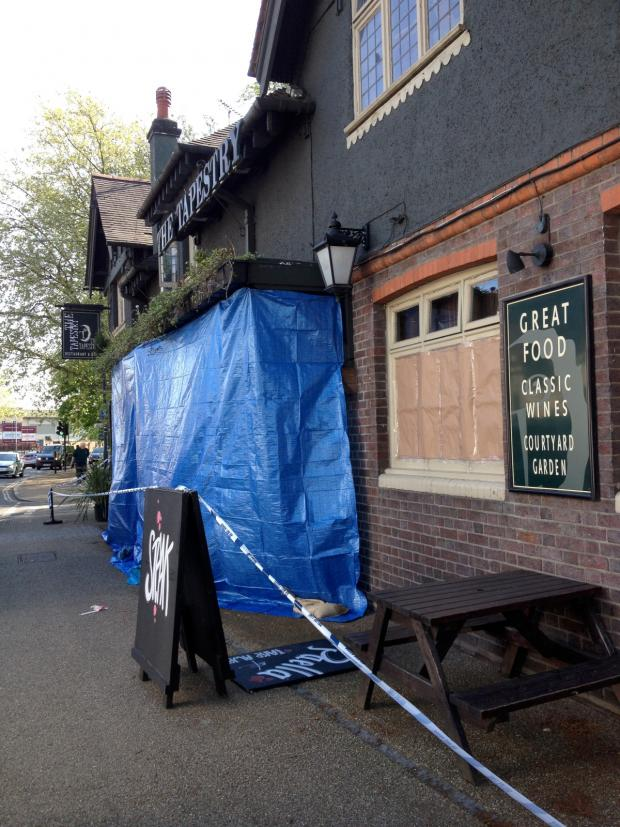 This Is Local London: The scene today: The pub closed this morning