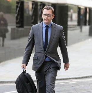 Former News of the World editor Andy Coulson arrives at the Old Bailey, as the phone-hacking trial continues
