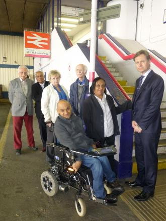 'I am cut off from my family' - campaign for step free access at Mill Hill Broadway station