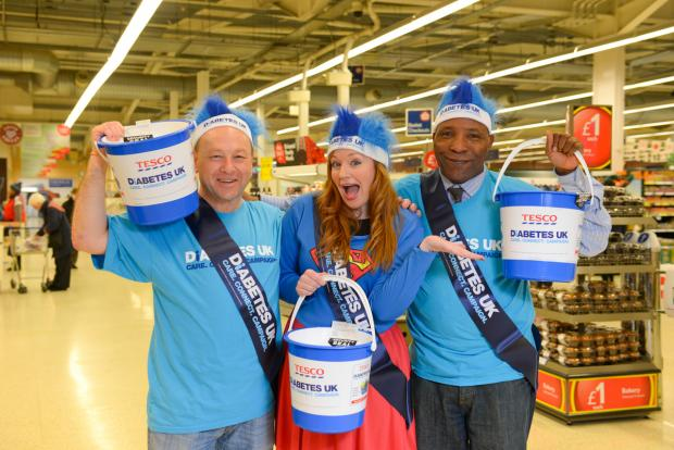 Seems a lot of fun: Tesco collectors last year