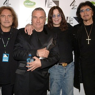 Bill Ward, second from left, misses his former Black Sabbath bandmates