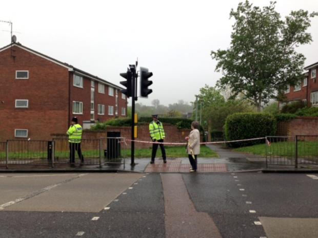 This Is Local London: The area has been cordoned off after a 52-year-old man was stabbed to death last night