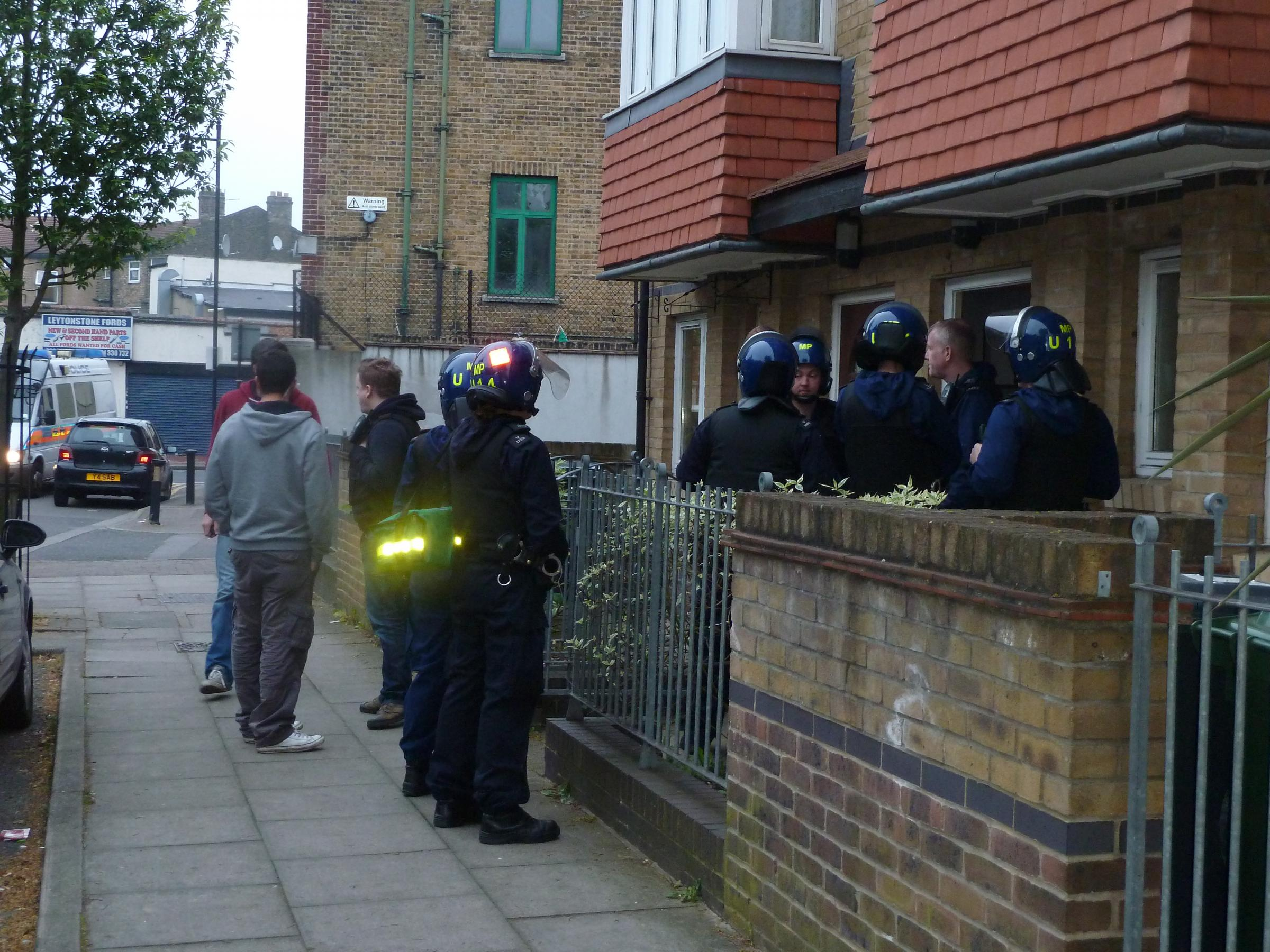 Rapid entry teams stormed properties across the borough today to