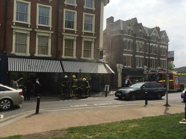 This Is Local London: Cote Blackheath fire (pic by Jonathan Dolby)