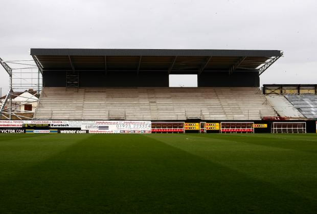 This Is Local London: Picture of the East Stand taken last week. Picture: Holly Cant
