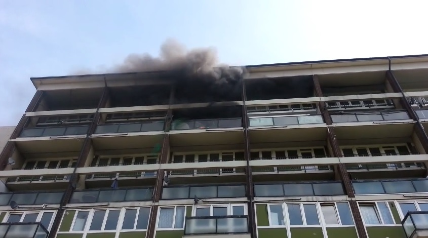 VIDEO: 35 firefighters tackle Woolwich blaze in Connaught Road