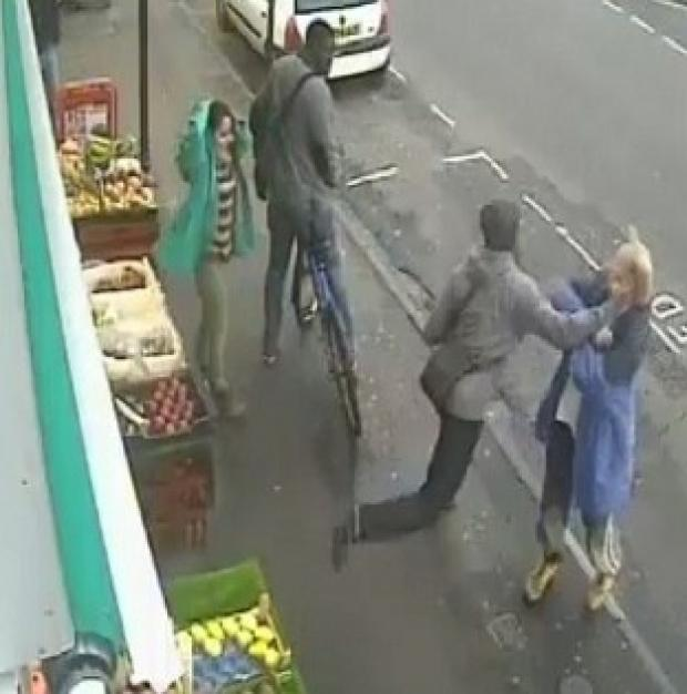 This Is Local London: CCTV image of the moment Andrew Young was killed with a single punch by Lewis Gill, whose jail sentence is to be reviewed (PA/Dorset Police)