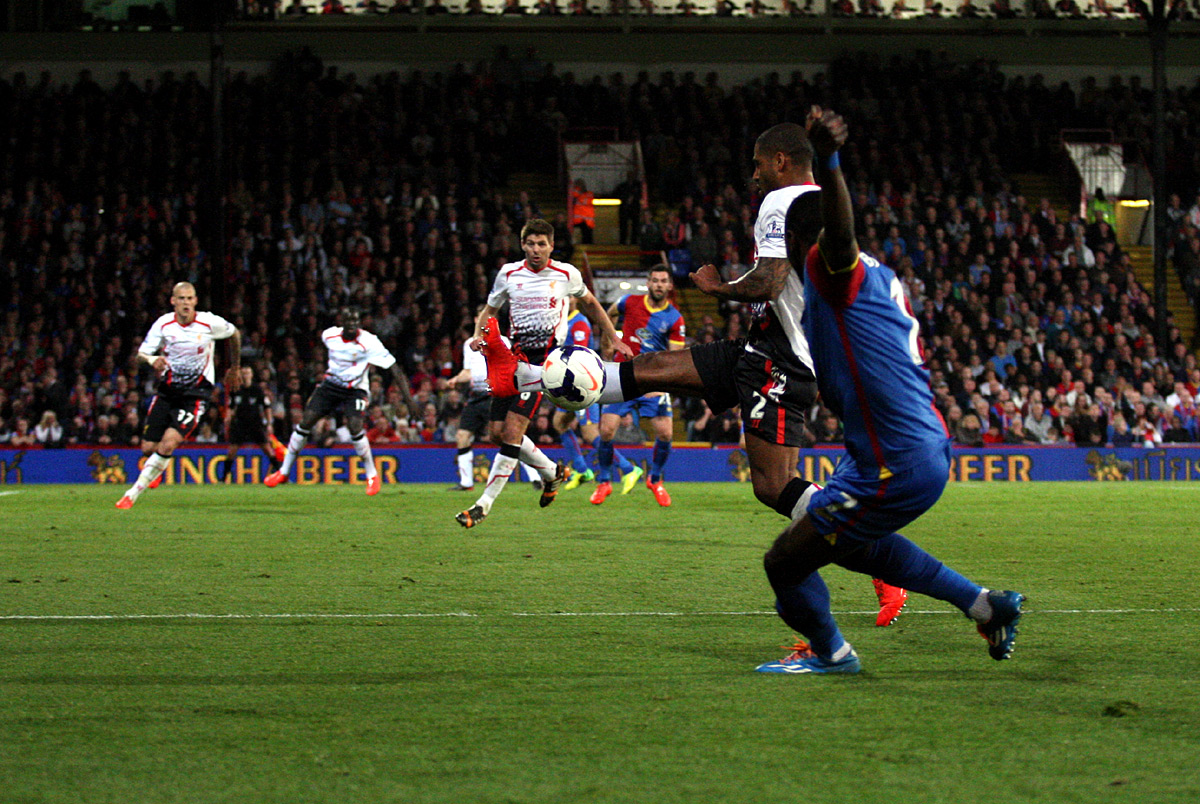 This Is Local London: Glen Johnson blocks Yannick Bolasie's delivery