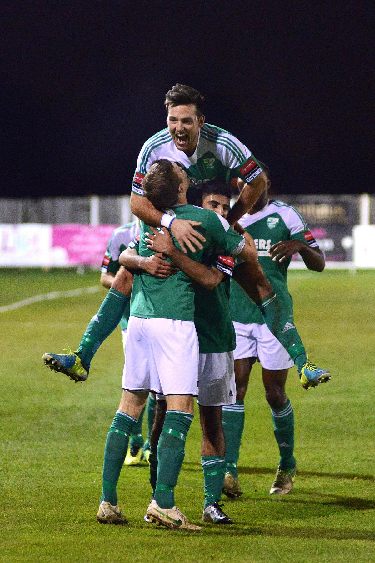 Time to celebrate: Leatherhead will be in the Ryman Premier League next season                SP81226